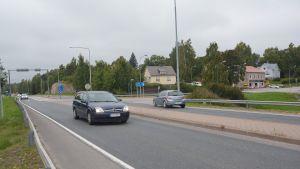 Österbykorsningen i Ekenäs, riksväg 25.