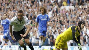 Gulfi Sigurdsson gjorde matchens första mål i derbyt