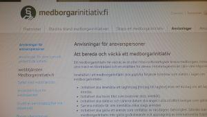 Namninsamlingar på nätet kan ske via medborgarinitiativ