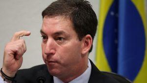 Glenn Greenwald vittnar inför en parlamentarisk kommitté i Brasiliens huvudstad Brasil  den 9 okotober 2013.