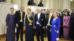 Presidenterna på slottet 2010.