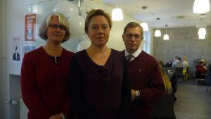 Anne Nummela, Tove Holm och Thomas Böckelmann tycker alla det är viktigt att skolan satsar på hållbar utveckling.