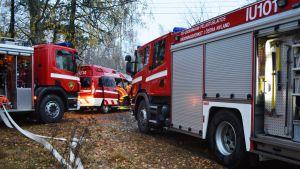 brandbilar i östra nyland