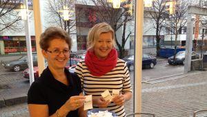 Carina Nilsson och Reidunn Manderbacka