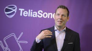 Johan Denneling, koncernchef för Teliasonera