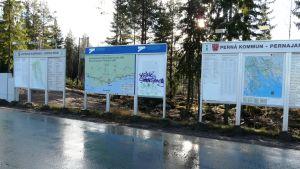Infoskyltar i Lovisa