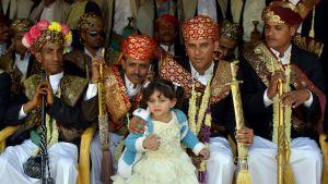 Barnbröllop i Sanaa i Jemen 3.10.2013