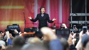 Paul McCartney i Covent Garden i London den 18 oktober 2013