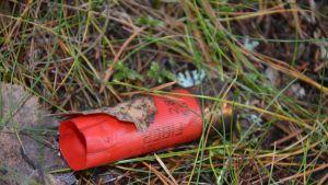 patronhylsa som hittats på familjen Munsterhjelms gård