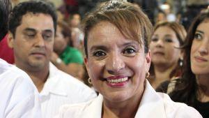 Presidentkandidaten Xiomara Castro i Honduras