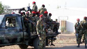 Regerigssoldater i Juba i Sydsudan