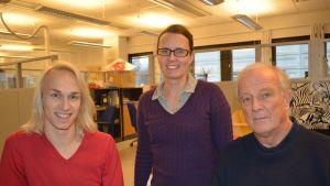 Christoffer Strandberg, Jenny Sylvin och Herman von Numers.