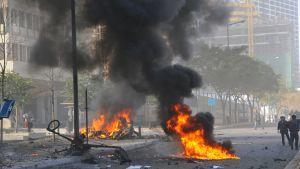 Rök och lågor efter ytterligare ett attentat i Beirut