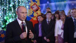 Vladimir Putin håller nyårstal i Chabarovsk