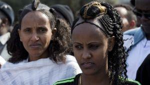 Afrikanska immigranter demonstrerar i Tel Aviv