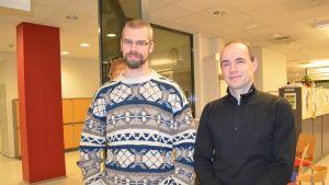 Tisdagssnackarna Kim Wikström och Fritjof Sahlström.