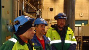 Erkki Lackström, Krister Wasström och Henrik Wassholm får gå från Ingå kolkraftverk.
