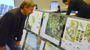 Planläggningsarkitekt Juhani Hallasmaa på Vasa stad.