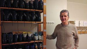 Ulf Friman är gymnastiklärare i högstadiet och gymnasiet i Vörå
