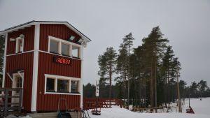 Finby skidstadion i Pargas, februari 2014