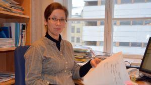 Irina Nori på Österbottens förbund.