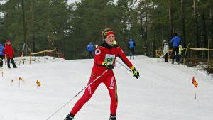 ÖSK:s Emma Skreslett på ankarsträckan i FSSM.