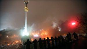 Kravallpolis vid självständighetstorget i Kiev den 19 februari 2014.