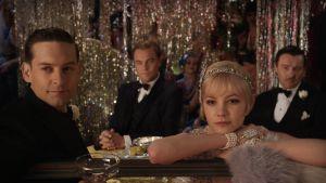 The Great Gatsby, daisy buchanan-carey mulligan, jay gatsby-leonardo dicaprio, nick carraway-tobey maguire, tom buchanan-joel edgerton