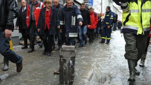 Förbundskansler Angela Merkel besökte Passau på tisdagen