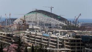 Halvfärdig OS-arena inför vinter-OS i Sotji, augusti 2013
