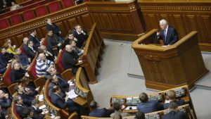 Ukrainas parlament i specialsession