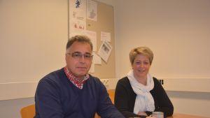 Arne Nummenmaa och Jeanette Pajunen