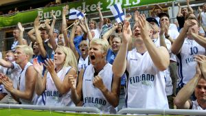 Finlands fans, basket-Em 2013