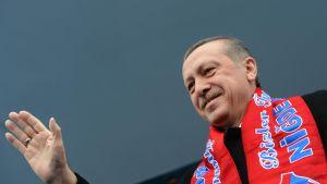 Turkiets premiärminister Recep Tayyip Erdoğan på valmöte i Niğde