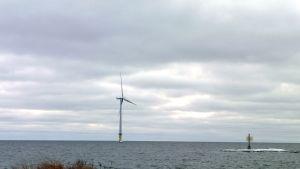 Det havsbyggda vindkraftverket utanför Takholuoto