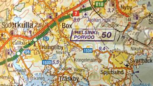 Karta över Kalkstrand.