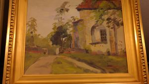 Nådendals kyrka målad av Erik Aschan-Rauthovi