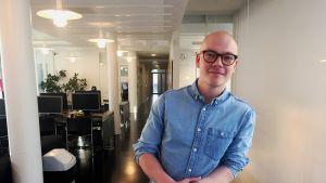Joel Sundström, studerar statsvetenskap.