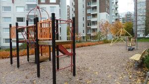 Lekparken på Åshöjdens förskolas innergård