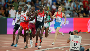 David Rudisha vann VM-guld på 800 meter.