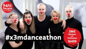 Stiftelsen och Succémorgon från X3M gör upp i Danceathon under Näsdagen 2015.