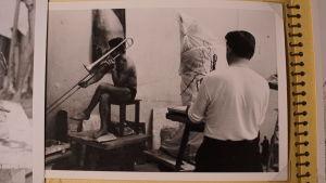 Ossi Somma 50-luvun alkupuolella opiskeluaikoinaan Ateneumissa