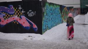 Myyrmäen avoin graffitiseinä