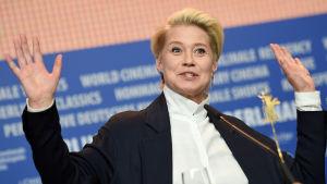 Trine Dyrholm under Berlinale-festivalen.