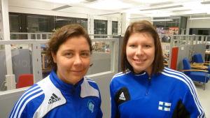 Linda Cainberg och Birgitta Lindholm.