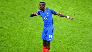 Paul Pogba på fotbollsplanen.
