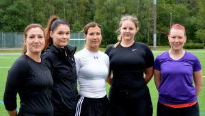 Eva von Haartman, gabriela Lönngren, Sophia von Haartman, Lotta Nieminen och Jenny Holmberg.