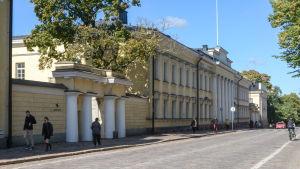 Helsingfors universitet vid unionsgatan.