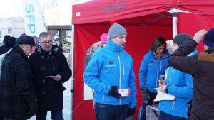 Svenska folkpartiet på Lovisa torg