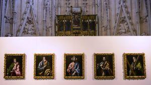 El Grecon maalauksia Toledon katedraalissa
